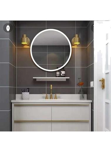Chic Life Chic Life Alterf Dekoratif Beyaz Çerçeveli Yuvarlak Ayna 90 cm x 90 cm Beyaz